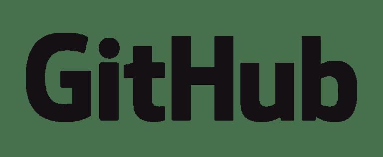 black and white logo of GitHub