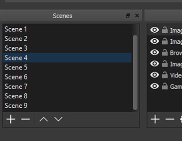 Set up an unlimited number of scenes you can switch between seamlessly via custom transitions.