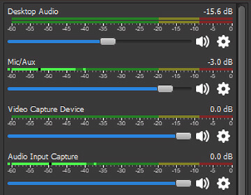 Intuitive audio mixer with per-source filters such as noise gate, noise suppression, and gain. Take full control with VST plugin support.