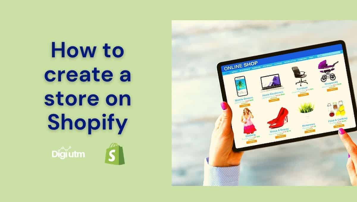 how to create a store on shopify