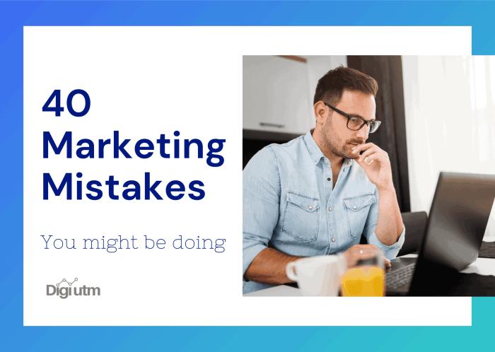 marketing mistakes ebook