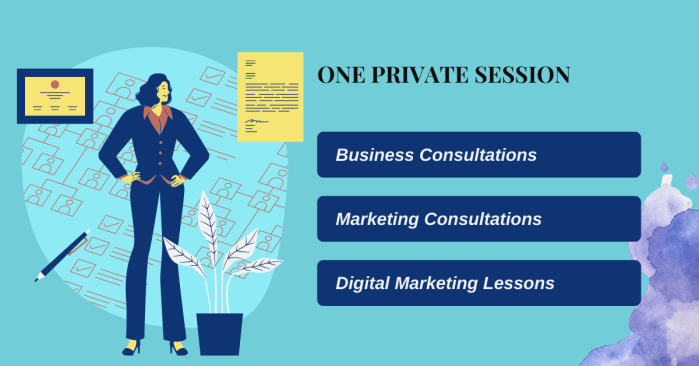 One Private Session to teach digital marketing