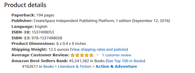 Screen shot of product details from the book's Amazon listing. It shows the category : Books  data-recalc-dims=