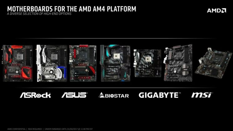 AM4 Motherboards from partners