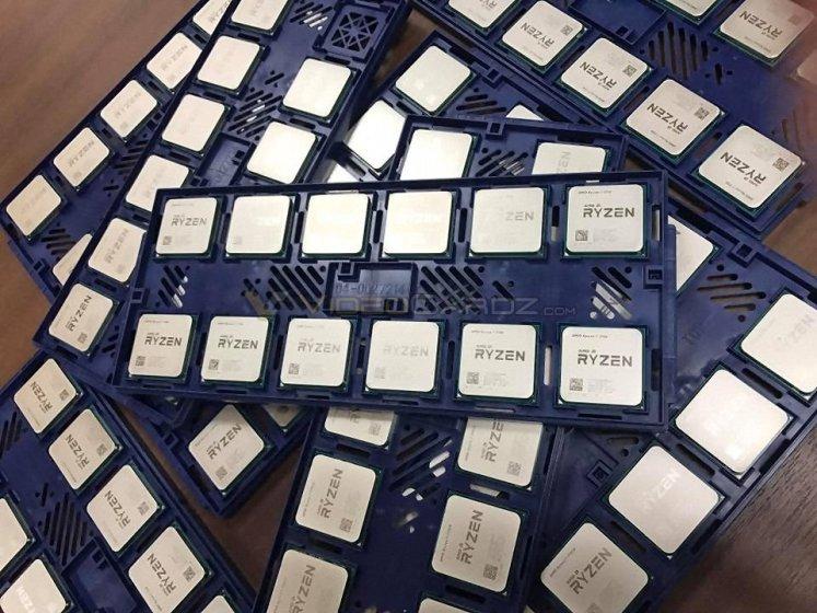 Ryzen CPUs pictured
