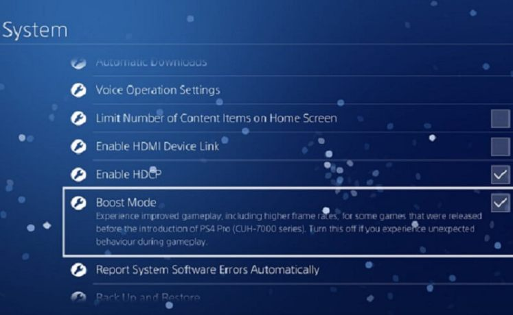 PS4 Pro Boost Mode performance - Which games to avoid