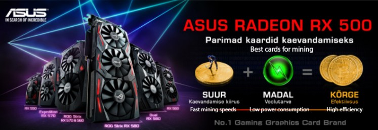 AMD GPUs out of stock, Asus Radeon RX 500 series