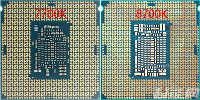 Intel Core i7-8700K vs Core i7-7700K (back)