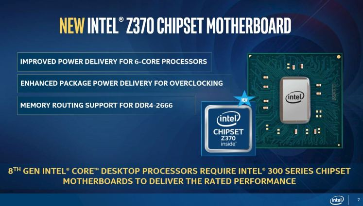 Intel Coffee Lake 8-core CPUs and Compatibility with Z270 chipset