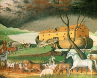 Noah's Ark.  Hicks, Edward, 1780-1849  Click to enter image viewer  Use the Save buttons below to save any of the available image sizes to your computer.