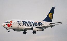 Un avion de Ryanair dans le ciel