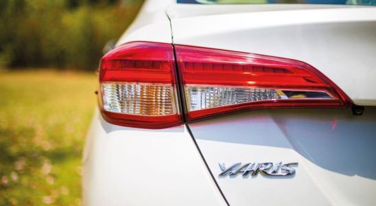 Une Toyota Yaris.