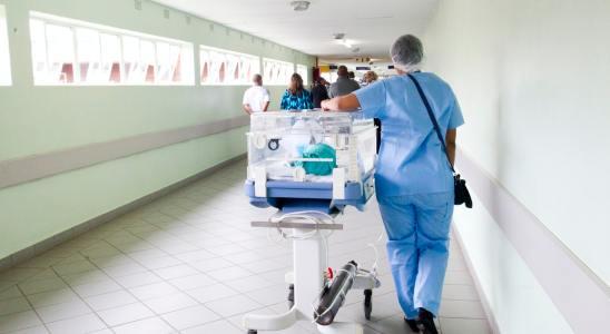 Dans le couloir d'un hôpital en Afrique du Sud.
