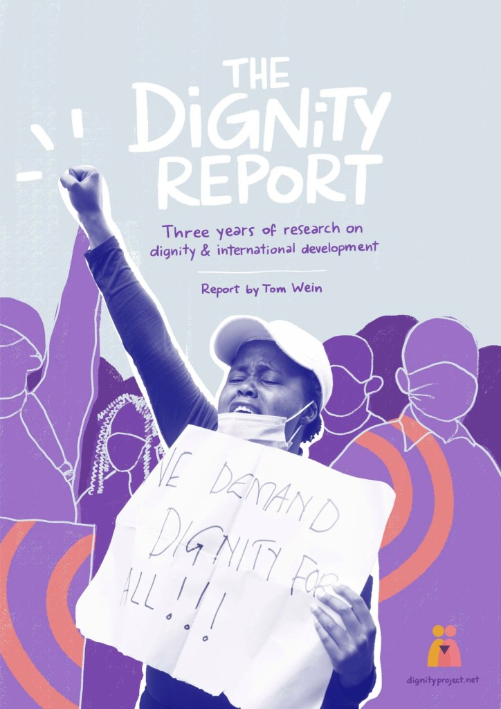 Front cover of the Dignity Report. Click to read the report.
