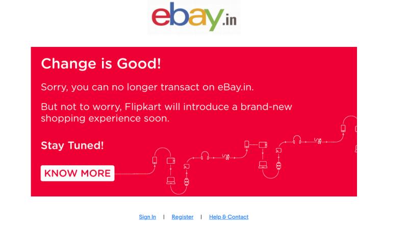 eBay Stops Service in India