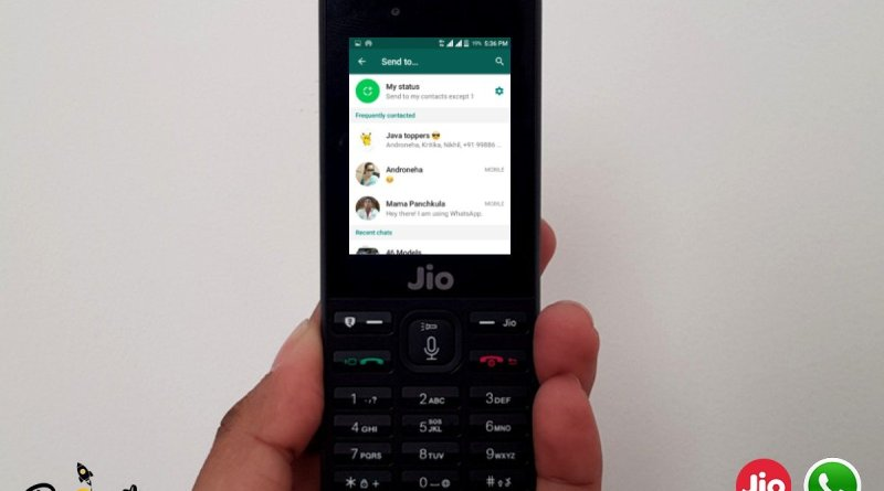 Whatsapp Now Supports on Jio Phone and Jio Phone 2