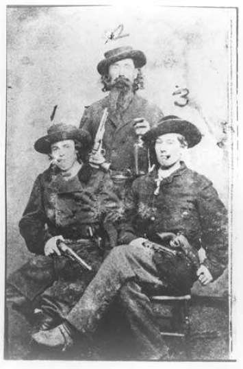 Three bushwhackers, ca. 1864. The American Civil War and Guerrilla Warfare on the western front of the American Civil War. #civilwar #americanhistory #history