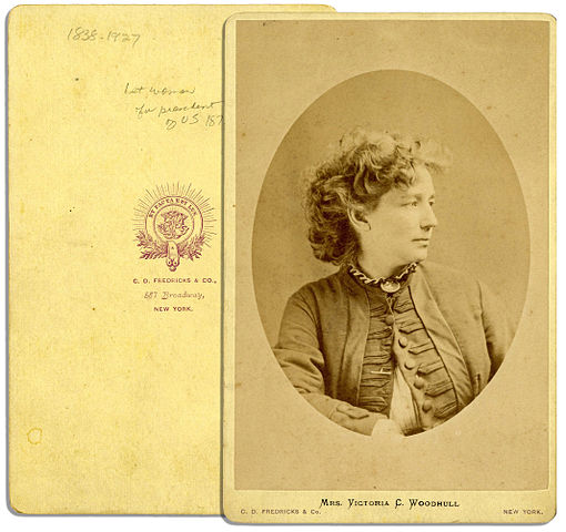 A carte de visite photograph of a woman in her thirties with medium brown hair pulled up from her face
