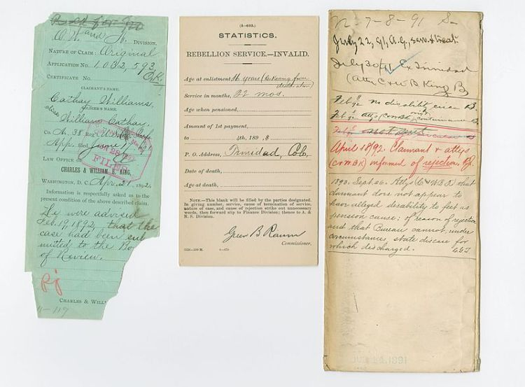 Civil war Pension paperwork
