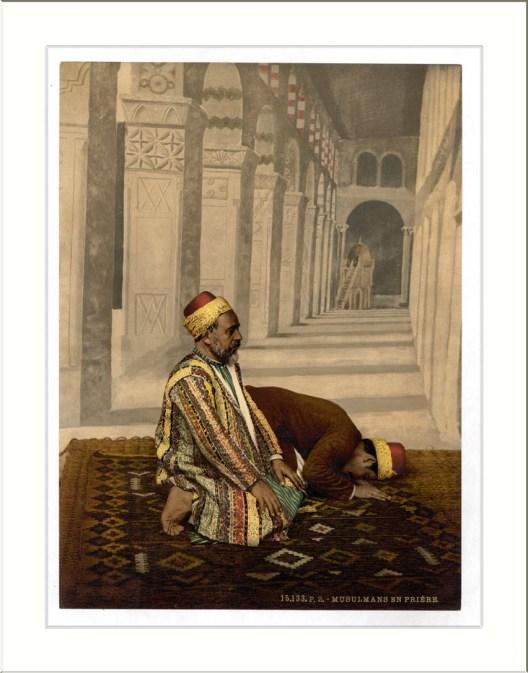 Two Mussulman Muslims praying