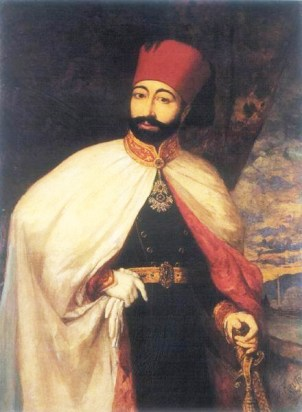 A painting of Mahmud II
