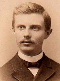 a sepia toned photograph of a young Frederick Jackson Turner