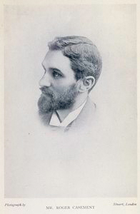 A black and white photograph of Roger Casement. Victorian imperialism in the 19th century
