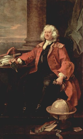 A painting of Thomas Coram, 1740
