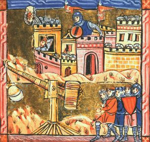 A painting of the Siege of Acre