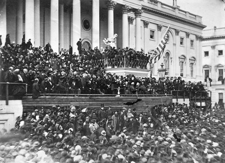 Lincoln's second inaugural crowd