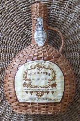 Madeira wine in wicker casket