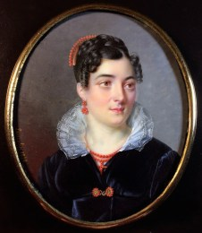 Miniature portrait by Lancelin (1818)