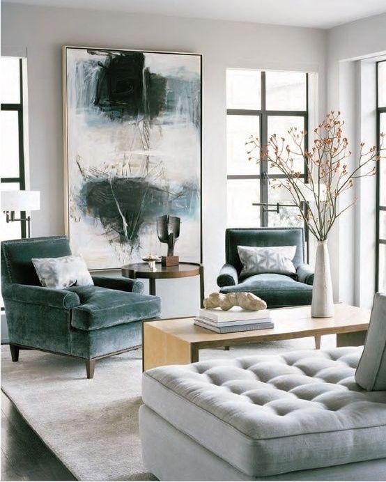 Gray And Dark Green Living Room Novocom Top