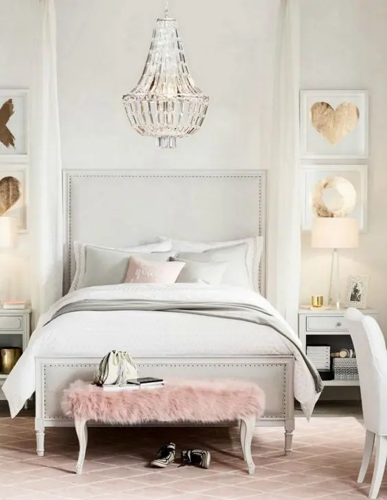 Bedroom Pink String Lights Novocom Top