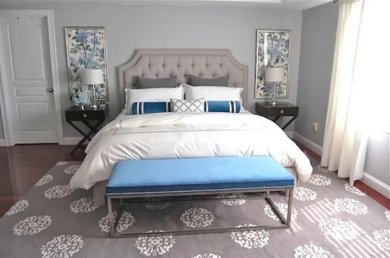 Blue White And Grey Bedrooms Novocom Top