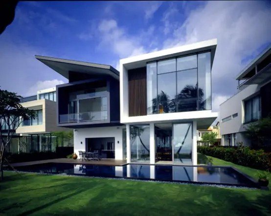 Modern House At Small Area In Sentosa Cove