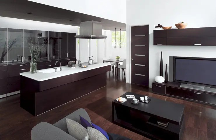 Combine Kitchen and Living Room with Cuisia by TOTO - DigsDigs
