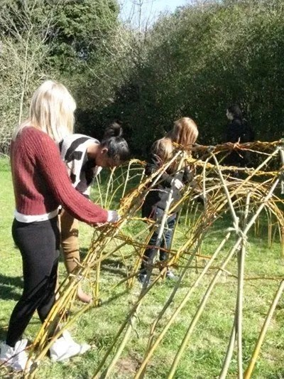 Willow weaving at Fairlands Valley Farmhouse