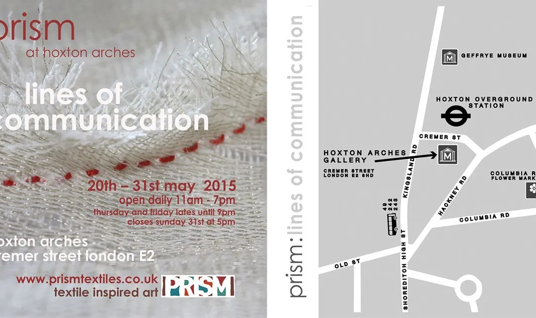 Fenner's artist Amanda Bloom is selected to join the international textiles group 'Prism'.