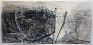Point in Time, Mixed Media drawing on paper, 120 x 56cm Alex McIntyre 300dpi 2014