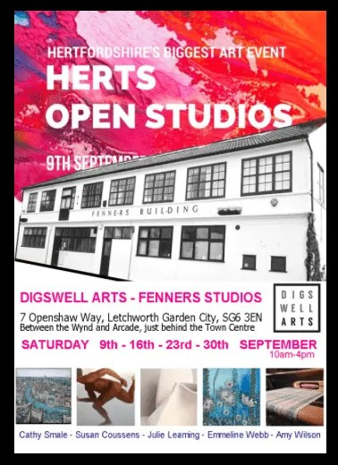 Digswell Artists Open Studios this weekend – Digswell and Letchworth.