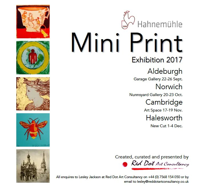 Hahnemühle Mini Print Exhibition 2017- Hideki Arichi to exhibit three prints.