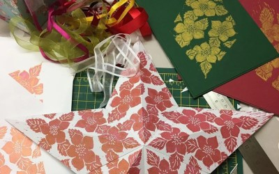 Christmas decoration workshop using Lino Print