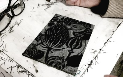 Lino Print – Reduction methods with Katharine Green