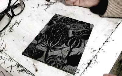 Lino Print – Reduction methods with Katharine Green