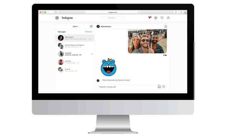 How to do Instagram DM from Computer