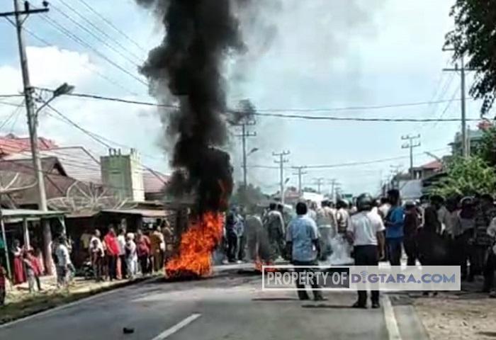 Warga Kembali Blokir Jalinsum, Polisi Kerahkan Satu Kompi Personel Brimob