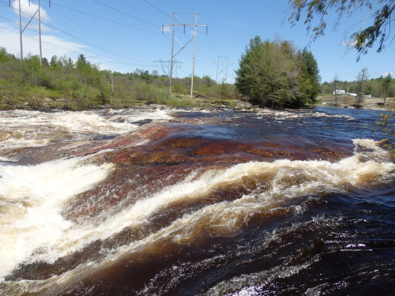Powerline Falls, Lewis County, New York, Moose River