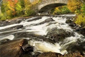 Bog River Falls waterfall - must-see Fall foliage waterfalls in the Adirondacks!