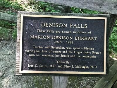 Denison Falls at Cayuga Nature Center, Tompkins County, New York July 2020